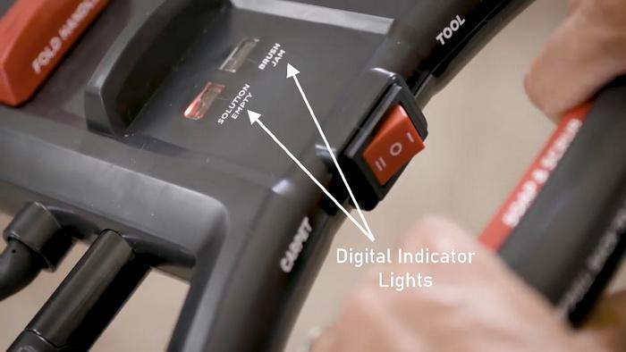 Rug Doctor Pro Deep Carpet Cleaner - digital indicator lights